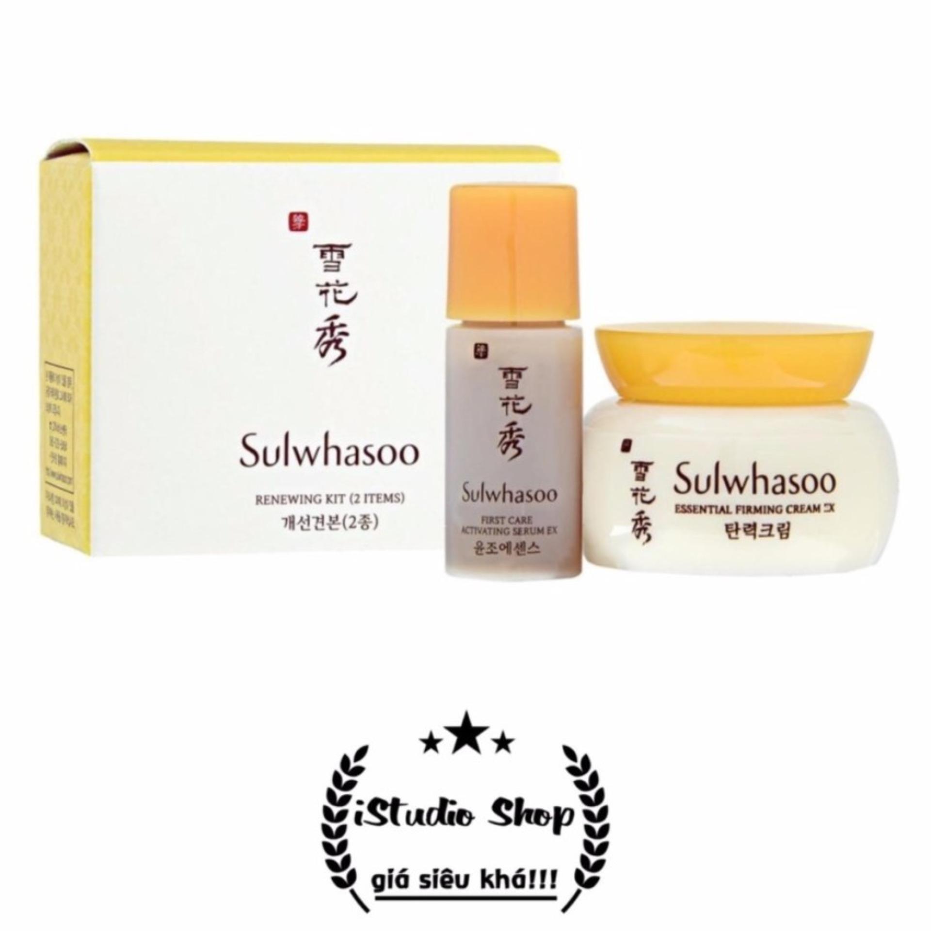 Bộ chăm sóc, tái tạo da và bổ sung độ ẩm cao cấp Sulwhasoo renewing kit (2 sản phẩm) – Hàng nhập khẩu