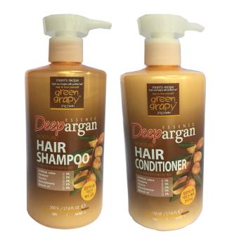 Bộ dầu gội và dầu xả chống rụng tóc GREEN GRAPHY Deep Essence Argan