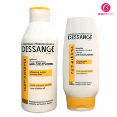 Bộ dầu gội và dầu xả Dessange Nutri Extreme dưỡng tóc hư tổn