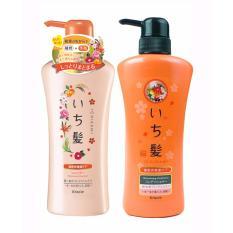 Bộ dầu gội xả chăm sóc tóc Ichikami phục hồi hư tổn hàng nhập khẩu Nhật Bản