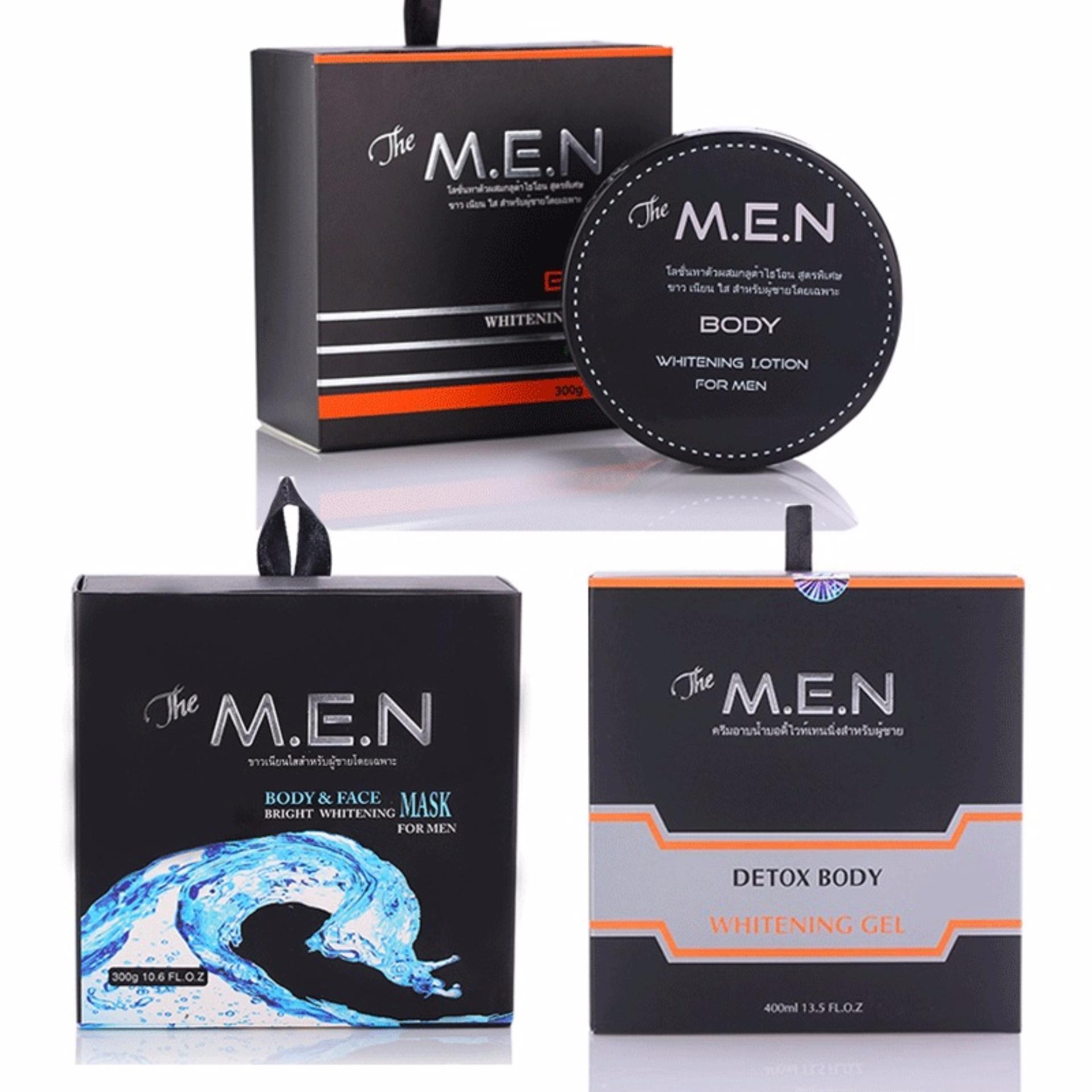 Bộ dưỡng trắng da hoàn hảo The M.E.N 3 in 1 (Body, Face, Detox)