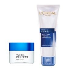 Trang bán Bộ kem dưỡng da trắng mượt đều màu ban ngày L'Oréal White Perfect Day Cream SPF 17 PA++ 50ml và sữa rửa mặt White Perfect Dewy 50ml