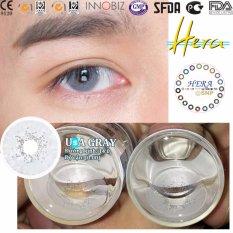 Bộ kính áp tròng Hera USA GRAY (xám tro, áp tròng+ 01 chai nước ngâm