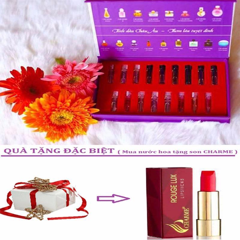 Bộ Mẫu Thử Full 17 Mùi Hương Nước Hoa Charme + Tặng Kèm Son Charme