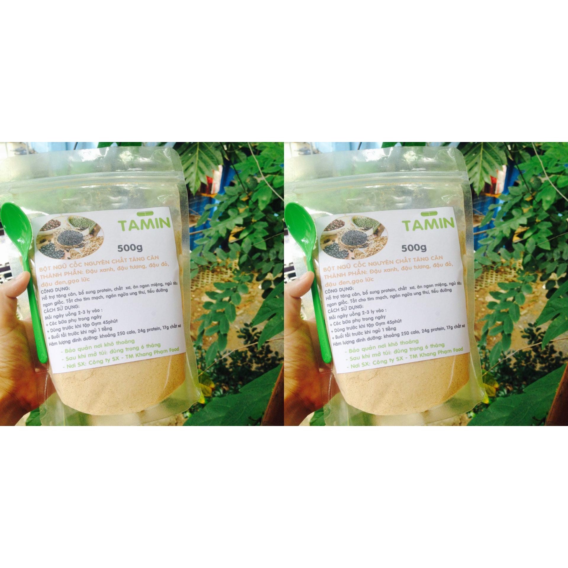 Báo Giá Bột đậu ngũ cốc hỗ trợ tăng cân 1kg TAMIN+ Tặng kèm Muỗng múc Bột Đậu