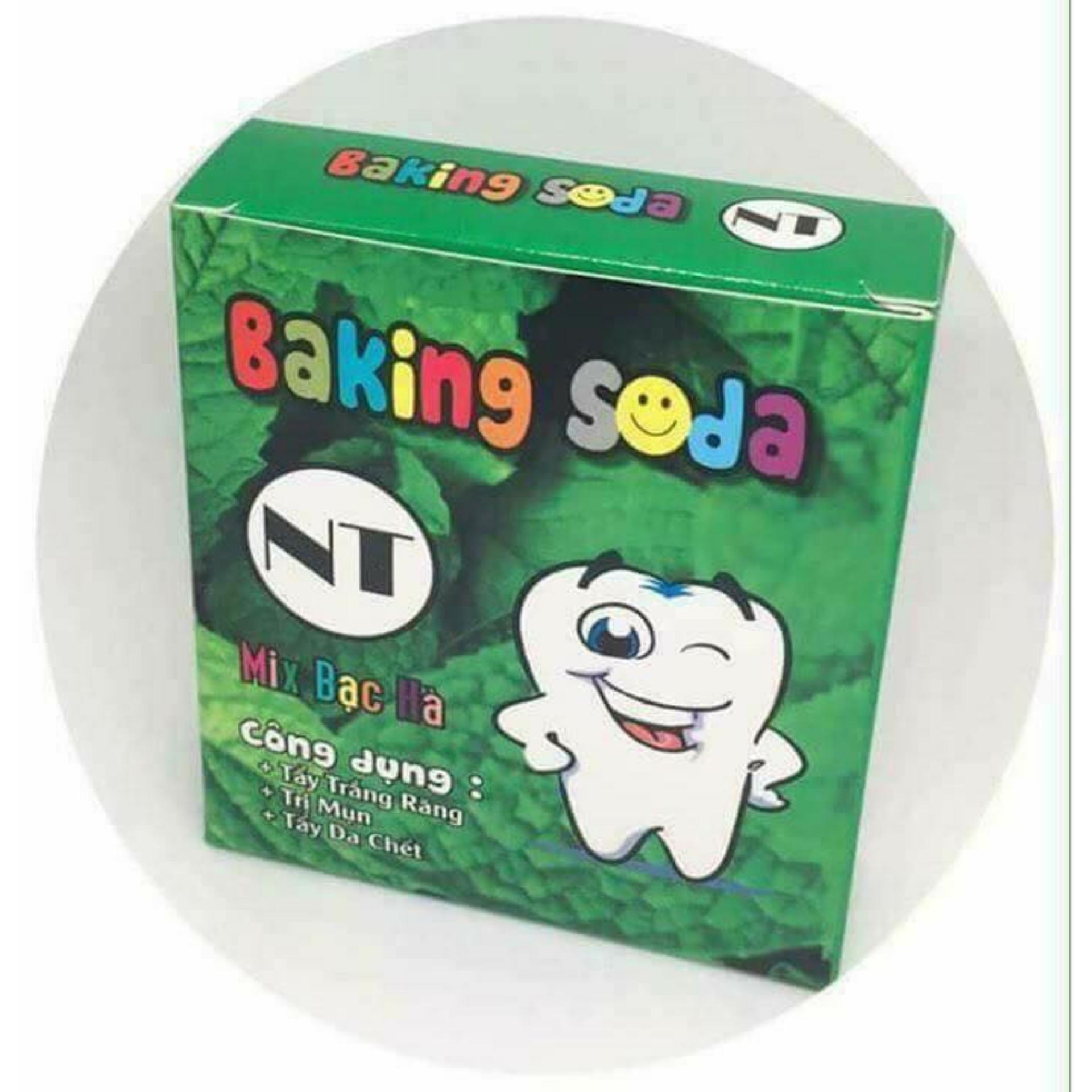 Bột làm trắng răng Baking soda Mix Bạc Hà 50g