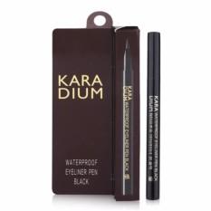 Bút Dạ Kẻ Mắt Nước Karadium Waterproof Brush Liner Black 0.55g
