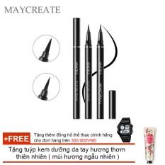 Bút lông kẻ mắt Maycreate ( 0.6ml ) + Tặng tuýp kem dưỡng da tay hương thơm thiên nhiên ( Đơn hàng mỹ phẩm trên 300k tặng thêm 1 đồng hồ thể thao như quảng cáo )