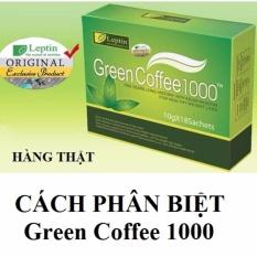 CÀ PHÊ XANH GIẢM CÂN TAN MỠ GREEN COFFEE 1000 – PHÂN BIỆT THẬT GIẢ