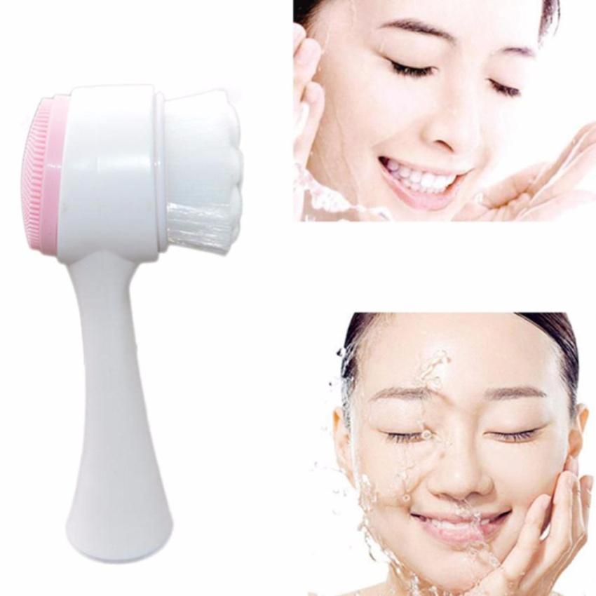 Cọ rửa mặt và mát xa (Màu hồng / xanh) 2 in 1 kỹ thuật của Hàn Quốc KOREA