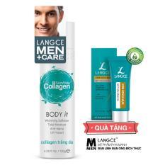 Collagen Trắng Da Toàn Thân 120g TẶNG Kem Ngừa Mụn, Mờ Thâm, Sáng Da 9g LANGCE dành cho nam