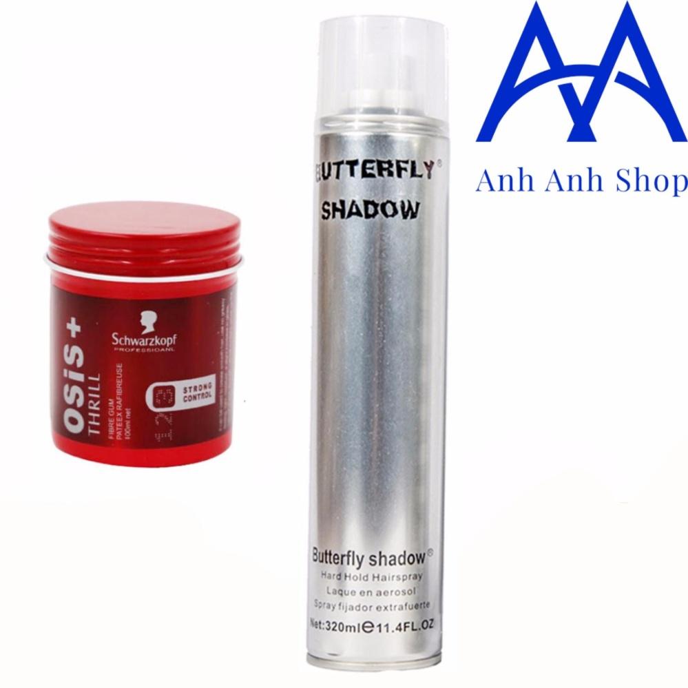 Combo 1 Gôm Shadow và 1 Sáp Vuốt Tóc Nam THRILL 3 (sáp cứng)