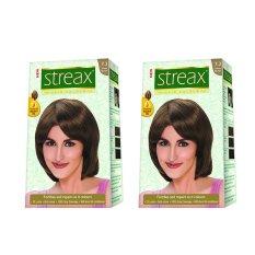 Combo 2 hộp thuốc nhuộm tóc thời trang Streax (nâu ánh đồng)