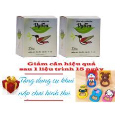 Combo 2 Hộp Trà thảo mộc giảm cân Vy & Tea – 30 gói – Tặng Khui Nắp Chai Kute