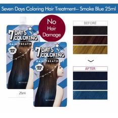 Combo 2 Thuốc Nhuộm Tóc 7 Ngày Missha 7 Days Coloring Hair Treatmen # Smoke Blue (2 x 25ml)