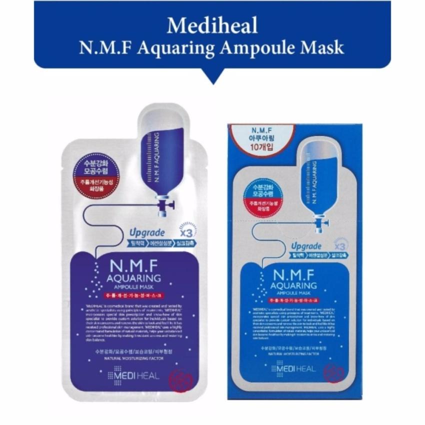 Combo 3 gói Mặt nạ dưỡng ẩm, kiềm dầu, se lỗ chân lông Mediheal N.M.F Aquaring Ampoule Mask 25m -...