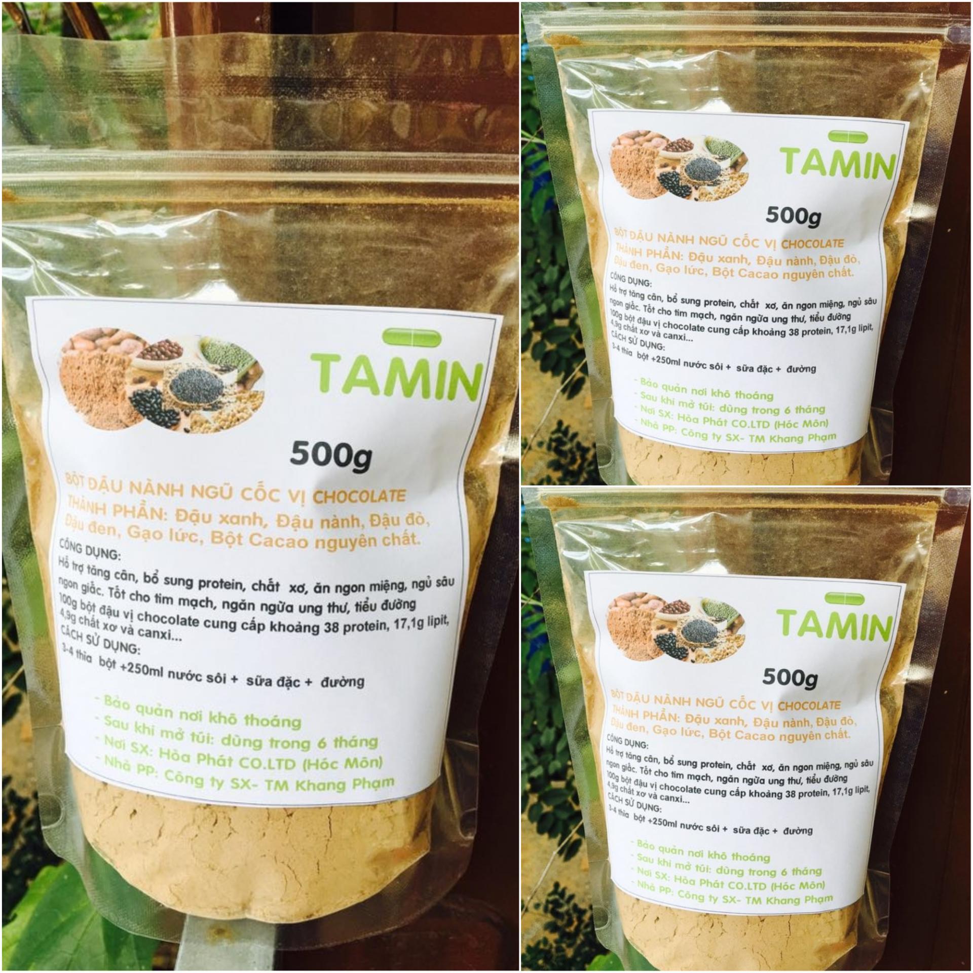 Cách mua Combo 3kg Bột ngũ cốc nguyên chất vị Socola ( 5 loại Bột đậu + bột cacao) TAMIN + TẶNG KÈM MUỖNG MÚC BỘT ĐẬU