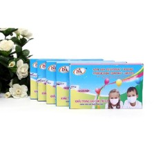 Combo 5 hộp khẩu trang y tế cho trẻ em 50 cái (5-12 tuổi)