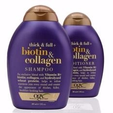 Combo bộ dầu gội và xả chống rụng và kích thích mọc tóc Thick & FullOrganix Biotin &Collagen