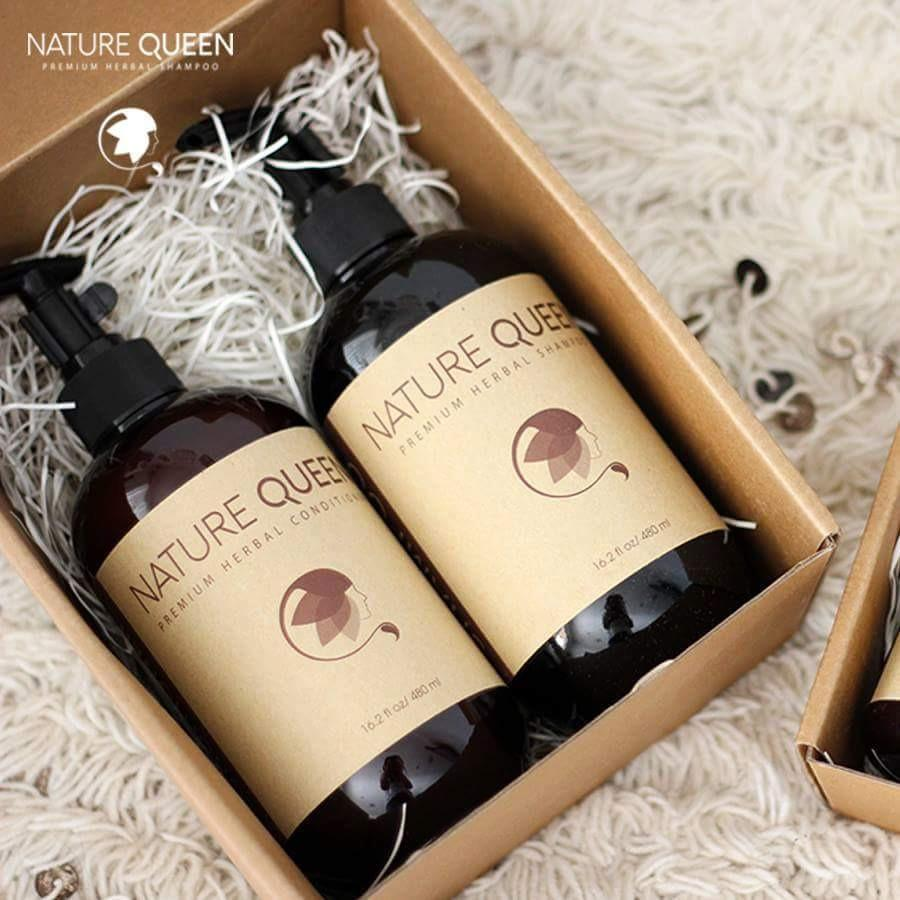 Combo siêu hot: Dầu gội & xả Nature Queen 480ml