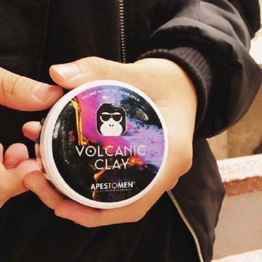 Combo sáp Volcanic Clay và gôm Butterfly (320ml) vuốt tóc nam