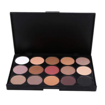 Cyber Women Professional 15 Colors Warm Nude Matte Shimmer PaletteCosmetics Makeup Eyeshadow - Intl - intl