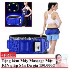 ĐAI Mát Xa Giảm Béo Bụng X5 +Máy Massage Mặt Bằng Ion BB00799161+BB009050
