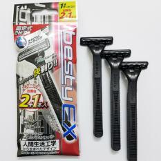 Dao cạo râu Nhật Bản 2 lưỡi Besty Ex2 ( 3 chiếc)