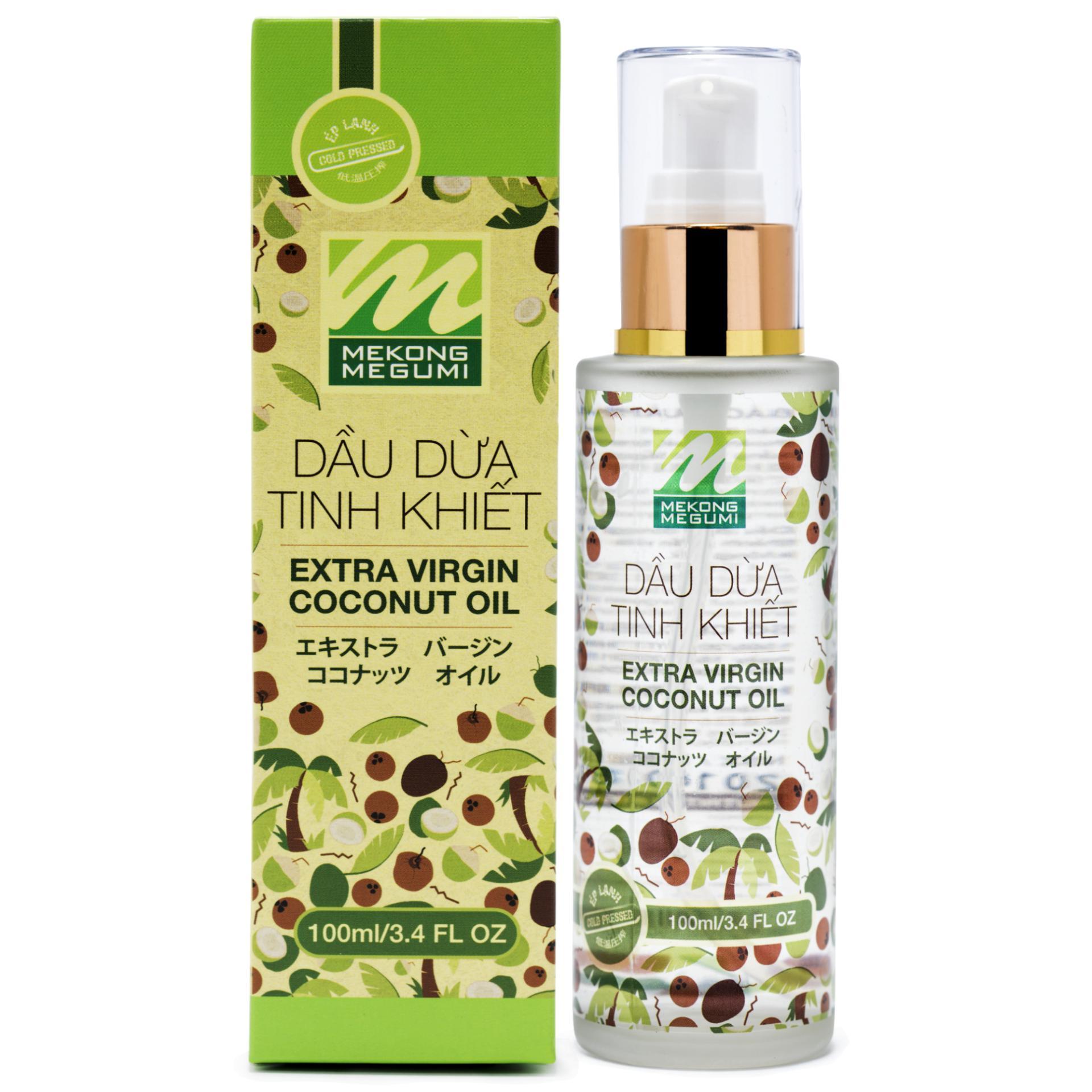DẦU DỪA TINH KHIẾT ÉP LẠNH MEKÔNG MEGUMI (Extra Virgin Coconut Oil) _ 100ML