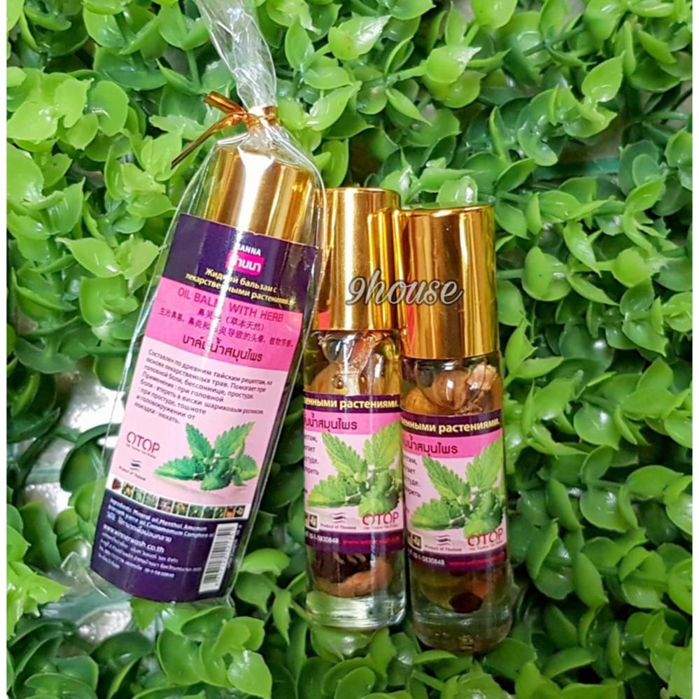 Dầu gió tinh chất Menthol ngâm thảo dược (nhập khẩu Thái Lan)