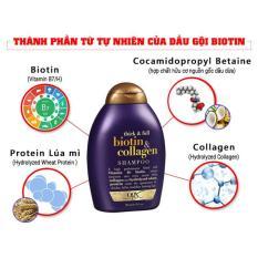 Dầu gội Biotin & Collagen OGX của Mỹ trị rụng và kích thích mọc tóc hiệu quả