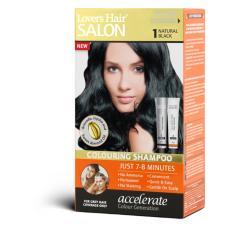 Dầu gội nhuộm tóc Lover's Hair Salon Colouring Shampoo #1 Natural Black 2x60ml