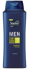 Dầu gội tắm xả 3 trong 1 cho nam Suave Professionals Men 3-in-1 Citrus Rush 828ml (Mỹ)
