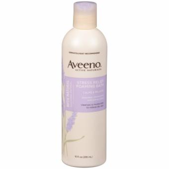 Dầu tắm Aveeno Active Naturals Stress Relief Foaming Bath 295ml