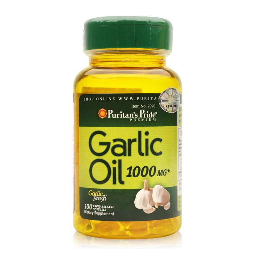 Dầu tỏi tăng cường hệ miễn dịch, hỗ trợ phòng ngừa cảm cúm, giảm cholesterol Puritan's Pride Garlic Oil 1000mg...