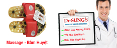 Dép Massage – Bấm Huyệt Dr.Sung (Đỏ)