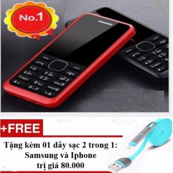 Điện thoại bàn phím to và chữ lớn dành cho người lớn tuổi + 01 dâysạc điện thoại 2 trong 1 cho Iphone và Samsung