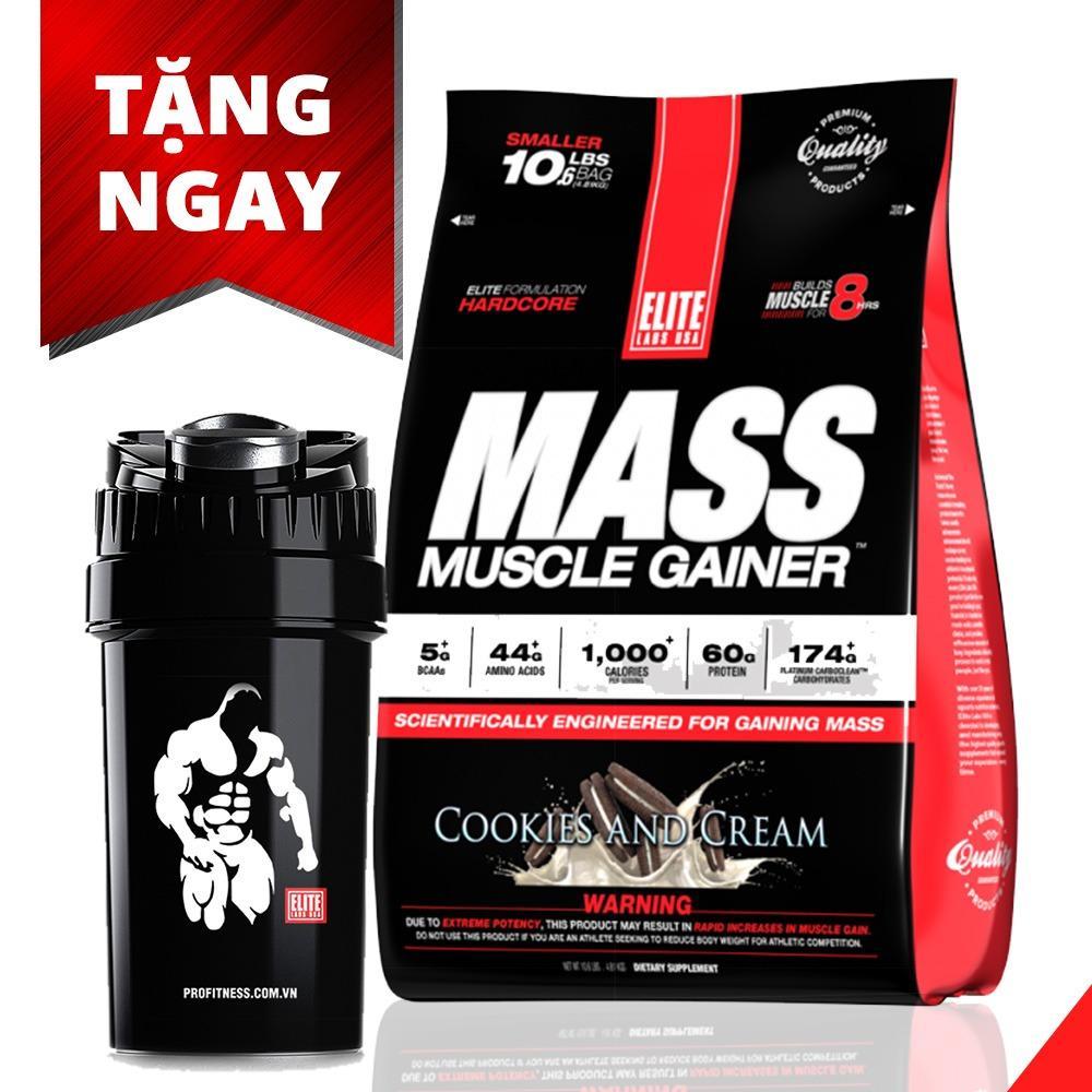 Giảm giá Sữa tăng cân, tăng cơ – Elite Labs Mass Muscle Gainer Vanilla Ice Cream 10lbs ( 4.6kg)