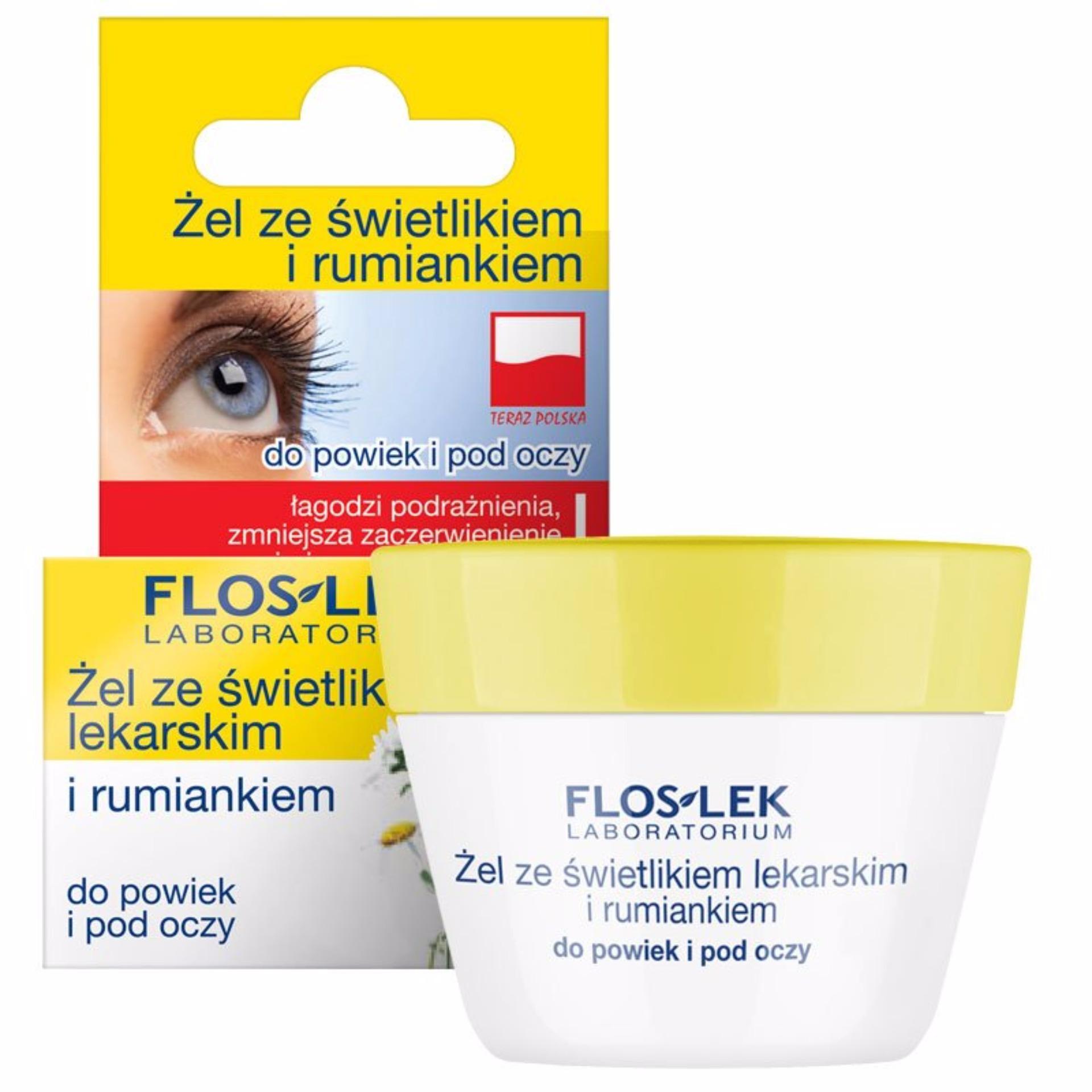 Gel trị quầng thâm và ngăn ngừa bọng mắt Floslek – eyebright và hoa cúc 10g