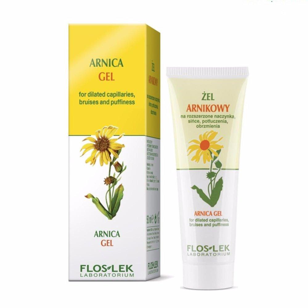 Gel dành cho da bị giãn mao mạch, có vết bầm và sưng – Arnica gel for dilated capillaries, bruises and puffiness 50ml