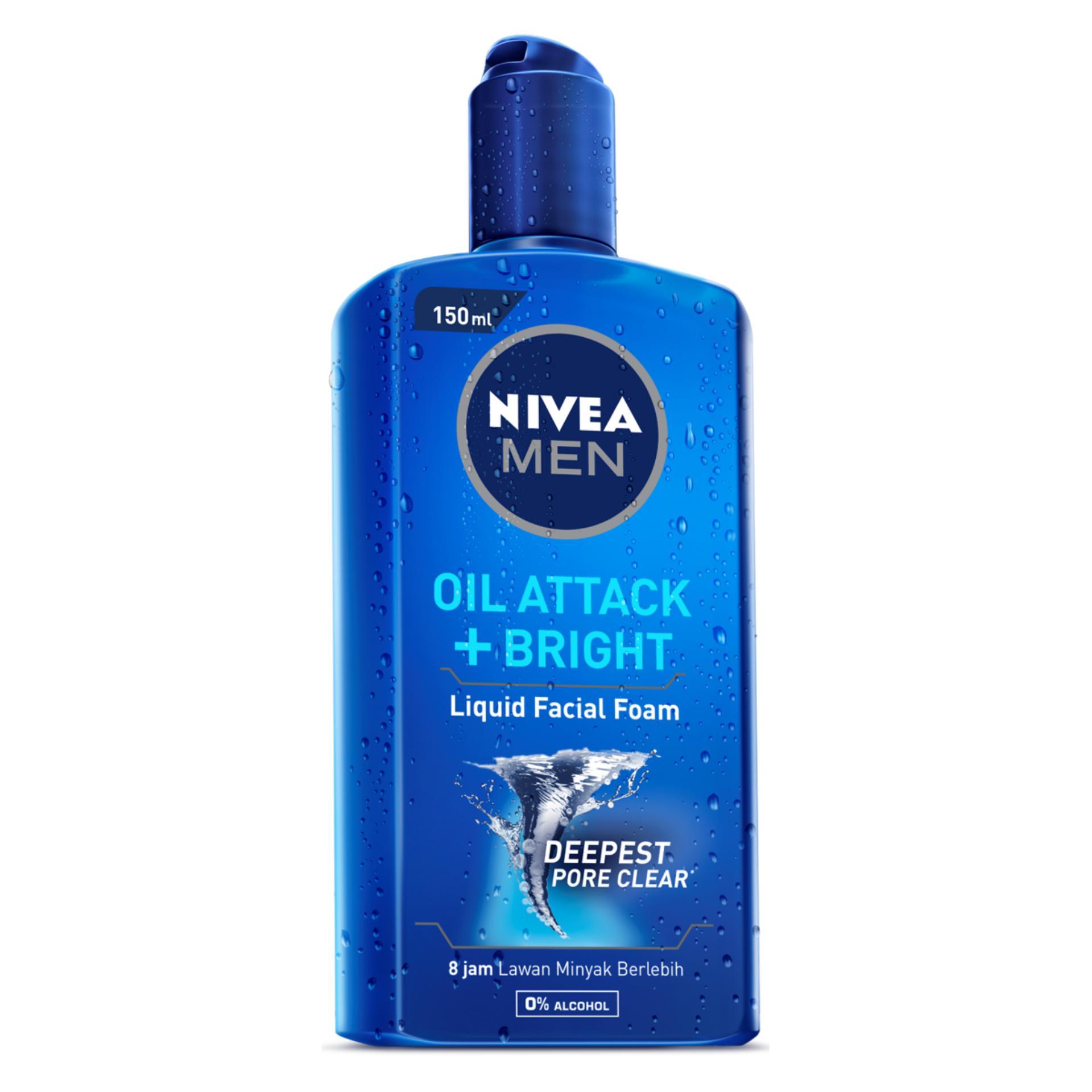 Gel rửa mặt NIVEA MEN Oil Attack + Bright 150ml