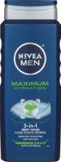Gel tắm dưỡng ẩm 3 trong 1 cho nam NIVEA Men Maximum Hydration 3 in 1 Body Wash 500ml