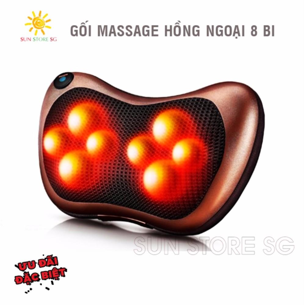 Goi Mat Xa Hong Ngoai – Gối Massage Hồng Ngoại 8 Bi Cao Cấp – Bảo Hành Uy Tín 1 Đổi 1 Bởi Sun Store