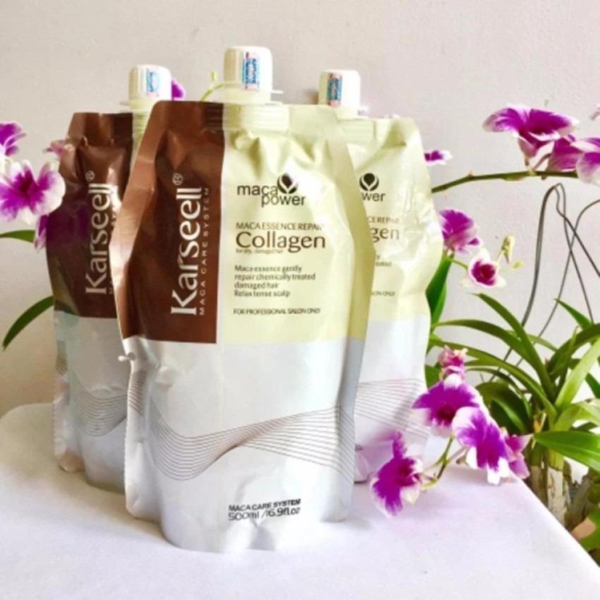 Hấp dầu Collagen Karseell bóng mượt phục hồi tóc 500ml