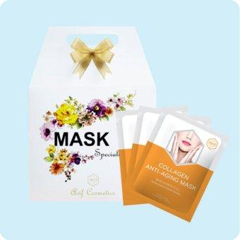 Hộp 10 mặt nạ dưỡng da giảm lão hóa [Avif Collagen Anti-aging Mask] 10gói x 21g