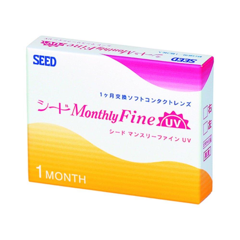 Giảm giá Hộp 3 kính áp tròng 1 tháng SEED Monthly Fine UV
