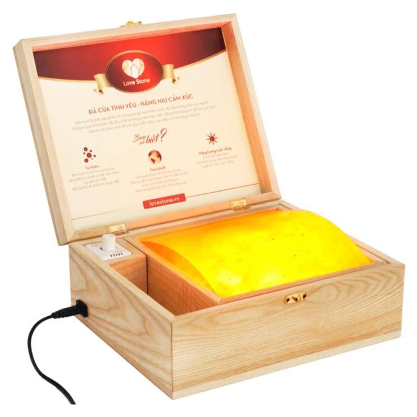 Hộp Đèn Đá Muối Mặt Cong Massage Chân (Tặng 5 móc treo siêu dính)