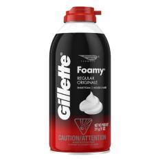 Kem bọt cạo dâu Gillette Foamy Regular Originale 311g