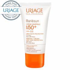 Kem chống nắng bảo vệ da tối đa BARIÉSUN Uriage SPF50+ CRÈME MINÉRALE 50ml