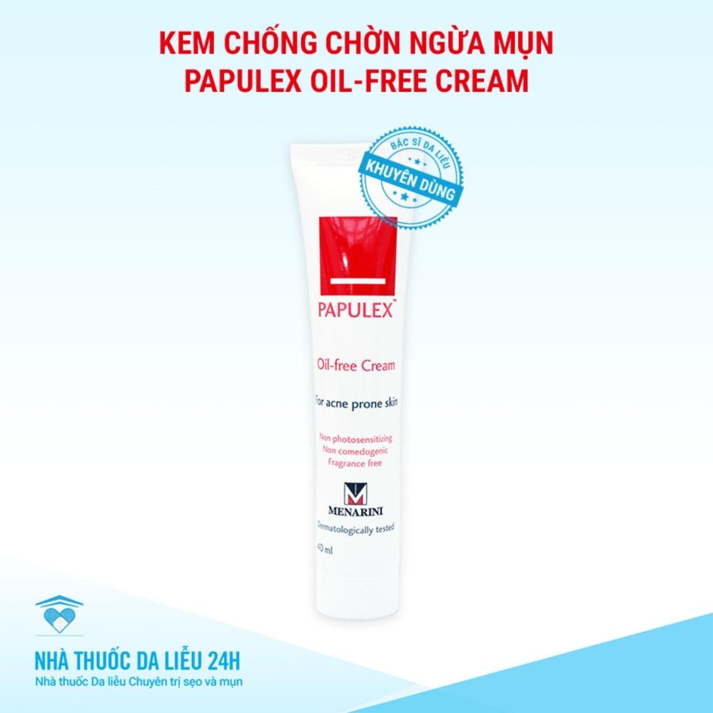 Kem chống nhờn ngừa mụn Papulex Oil-free cream tuýp 40 ml